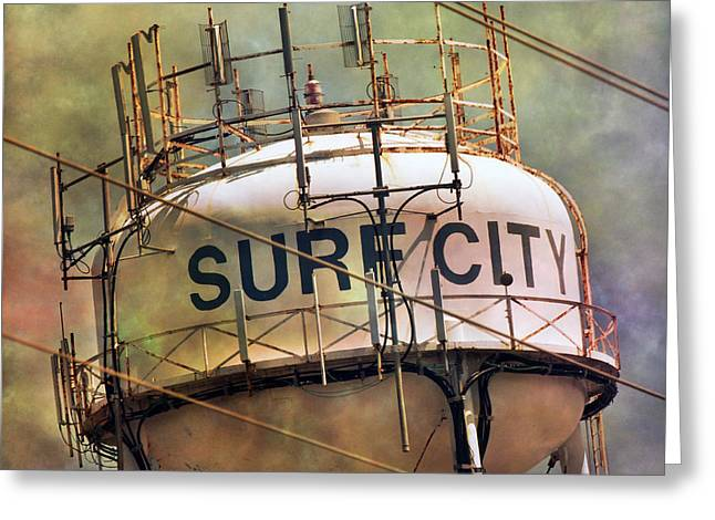 Surf City Greeting Cards - Topsail Landmarker Greeting Card by Betsy C  Knapp
