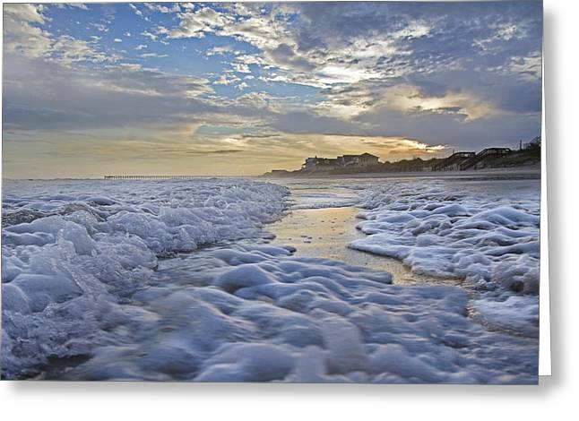 Topsail Pathway Greeting Card by Betsy Knapp