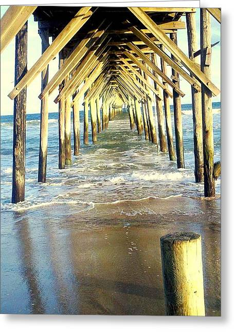 Snead Greeting Cards - Topsail Retreat Greeting Card by Lauren Burger
