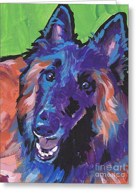 Sheepdog Greeting Cards - Topsy Tervy Greeting Card by Lea