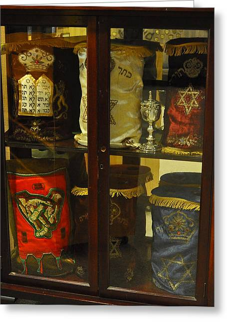 Talmud Greeting Cards - Torah Scrolls Greeting Card by Roger Reeves  and Terrie Heslop