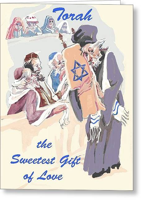 Torah's Gift Of Love Greeting Card by Shirl Solomon