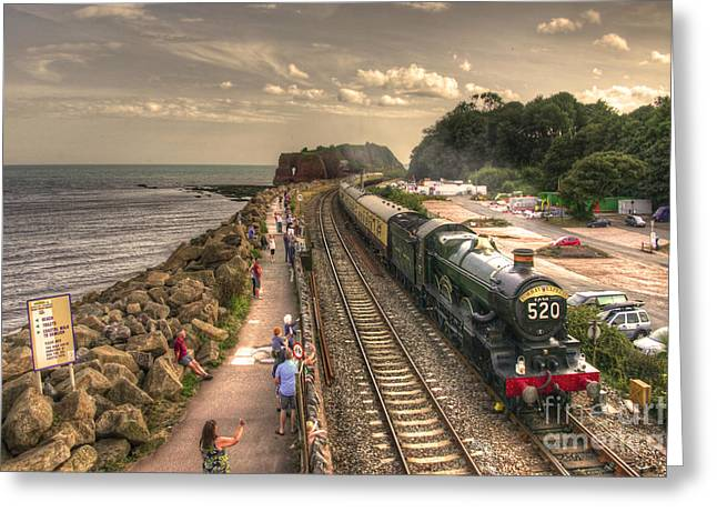Express Greeting Cards - Torbay Express  Greeting Card by Rob Hawkins
