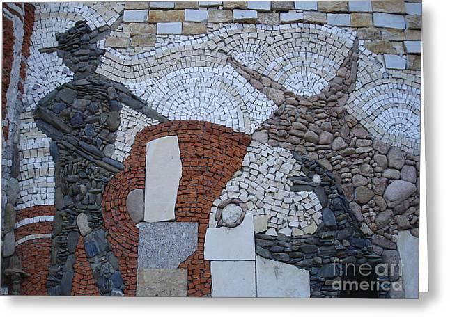 Stone Reliefs Greeting Cards - Toreador Greeting Card by Nikolay Ilchevski