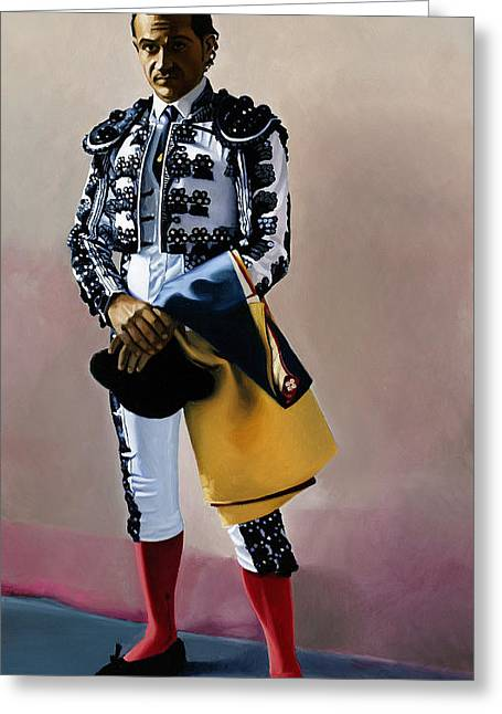 Full-length Portrait Greeting Cards - Torero #1, 2005 Greeting Card by Joan Longas