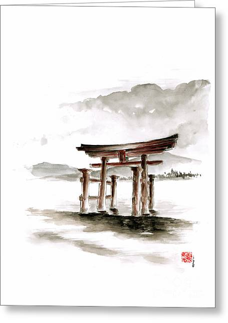 Recently Sold -  - Landscape Framed Prints Greeting Cards - Torii Gate Greeting Card by Mariusz Szmerdt
