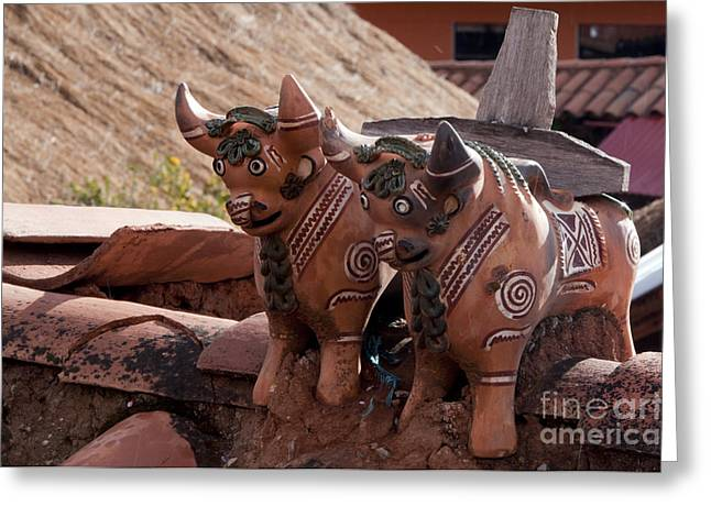 Sacred Bull Greeting Cards - Toritos Greeting Card by Bob Phillips