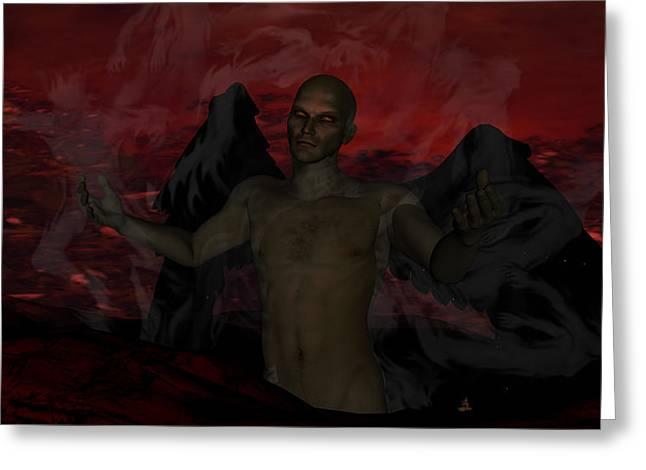 Torment Greeting Cards - Torment Greeting Card by Jean Gugliuzza