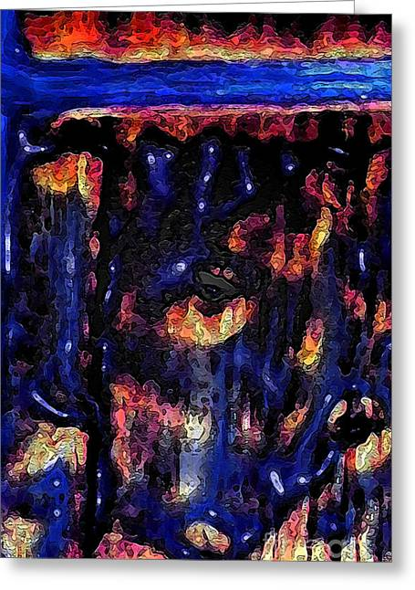 Torment Digital Greeting Cards - Tormented Abstract Greeting Card by Miss Dawn