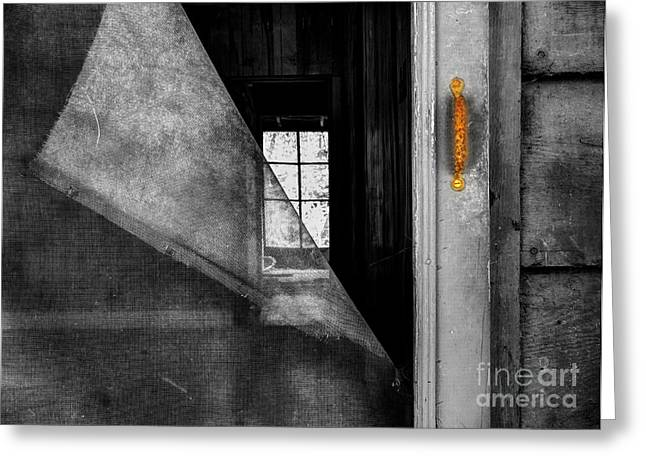 Abandoned Houses Greeting Cards - Torn Greeting Card by Michael Eingle