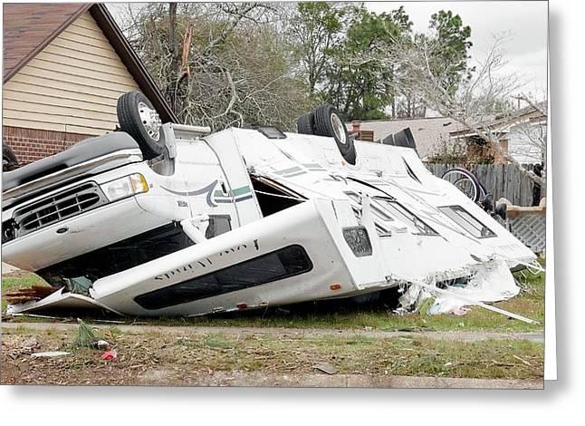 Tornado Damage Greeting Card by Jim Edds