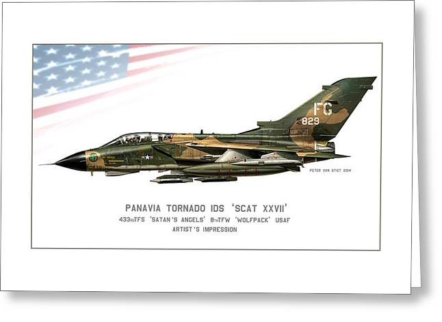 Wwi Digital Art Greeting Cards - Tornado SCAT XXII Greeting Card by Peter Van Stigt