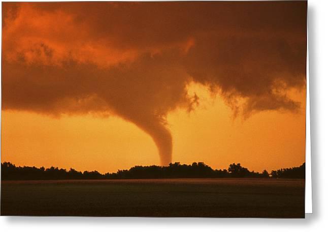 Jmpolitte Greeting Cards - Tornado Sunset 11 x 14 crop Greeting Card by Jason Politte