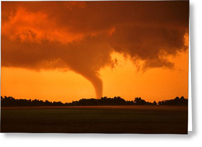 Jmpolitte Greeting Cards - Tornado Sunset Greeting Card by Jason Politte