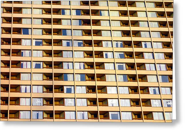 Building Feature Photographs Greeting Cards - Toronto Apartment Building Greeting Card by Valentino Visentini