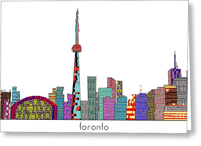 Citites Greeting Cards - Toronto Greeting Card by Bri Buckley