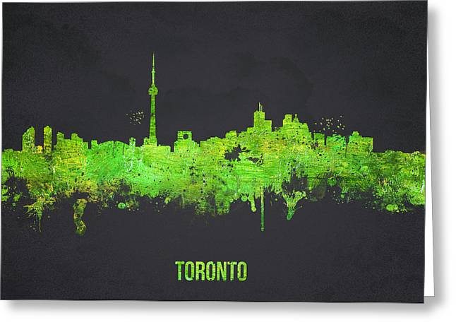 Canada Mixed Media Greeting Cards - Toronto Canada Greeting Card by Aged Pixel