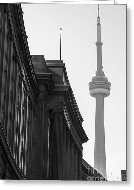 Matt Trimble Greeting Cards - Toronto CN Tower Greeting Card by Matt  Trimble