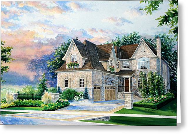 Historical Pictures Greeting Cards - Toronto Family Home Greeting Card by Hanne Lore Koehler
