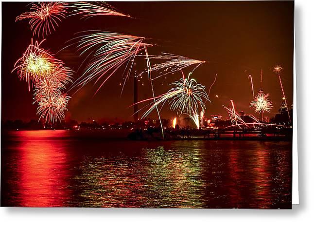 Toronto fireworks Greeting Card by Elena Elisseeva