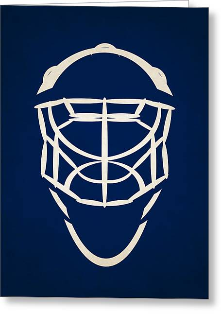 Maple Leafs Captain Greeting Cards - Toronto Maple Leafs Goalie Mask Greeting Card by Joe Hamilton