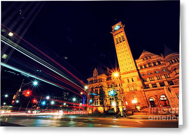 Long Street Greeting Cards - Toronto Old City Hall Greeting Card by Charline Xia