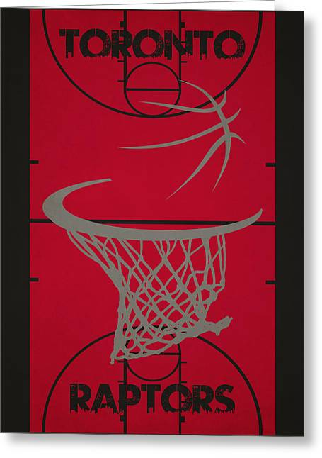 Basket Ball Greeting Cards - Toronto Raptors Court Greeting Card by Joe Hamilton