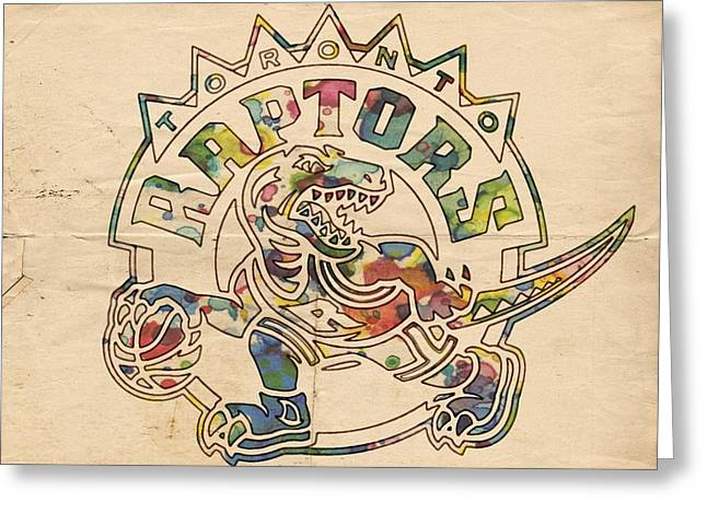 Slamdunk Greeting Cards - Toronto Raptors Poster Art Greeting Card by Florian Rodarte