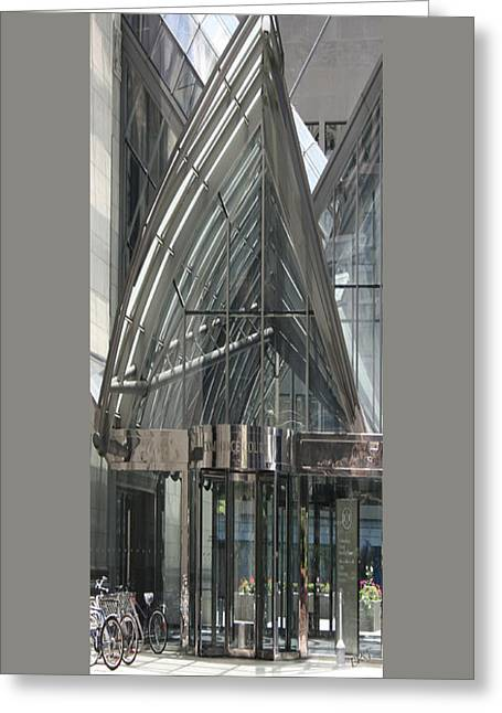 Glass Wall Greeting Cards - Toronto Silhouettes IV Greeting Card by Ben and Raisa Gertsberg