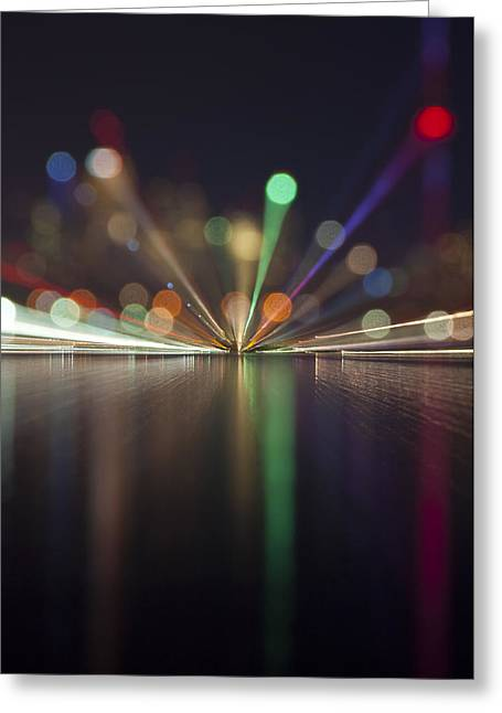 Contemporary Night Scape Greeting Cards - Toronto Skyline at Night Greeting Card by Les Lorek