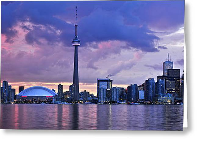 Canadian Greeting Cards - Toronto skyline Greeting Card by Elena Elisseeva