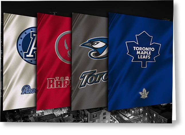 Nba Iphone Cases Greeting Cards - Toronto Sports Teams Greeting Card by Joe Hamilton