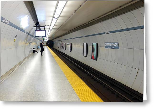 Weekly Greeting Cards - Toronto Subway Platform Greeting Card by Valentino Visentini