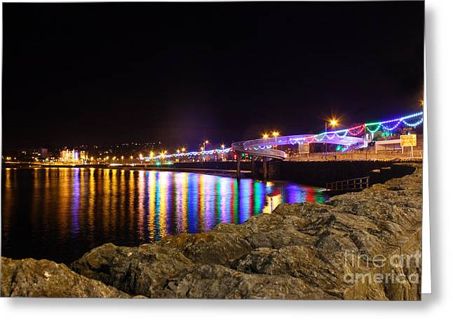 Terri Waters Greeting Cards - Torquay Lights Greeting Card by Terri  Waters