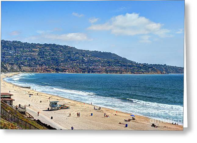Recently Sold -  - California Beach Art Greeting Cards - Torrance Beach California Greeting Card by K D Graves