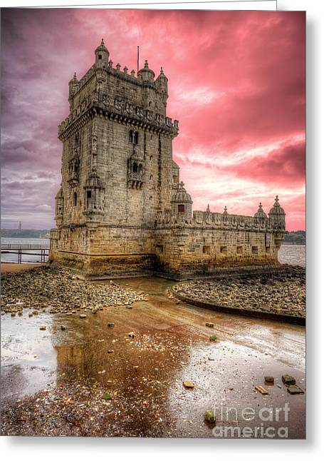 Torre De Belem Lisboa Greeting Card by English Landscapes