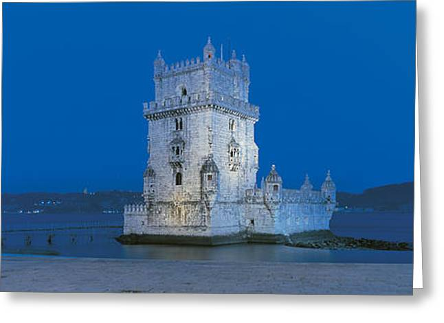 Visitors Greeting Cards - Torre De Belem Lisbon Portugal Greeting Card by Panoramic Images