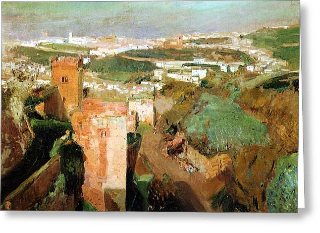 Old Masters Greeting Cards - Torre de los Picos Greeting Card by Celestial Images