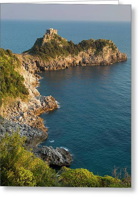 Torre Del Capo Conca Tower Or Saracen Greeting Card by Brian Jannsen
