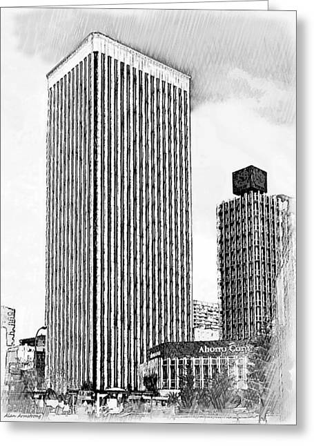 Spain Greeting Cards - Torre Picasso Azca Madrid Greeting Card by Alan Armstrong
