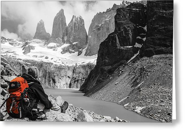 Monolith Greeting Cards - Torres del Paine Greeting Card by Gary Hall