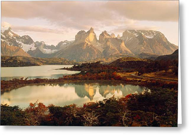 Paine Greeting Cards - Torres Del Paine National Park Chile Greeting Card by Panoramic Images