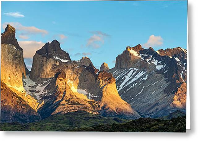 Sunrise Greeting Cards - Torres del Paine Sunrise - Patagonia Photograph by Duane Miller Greeting Card by Duane Miller