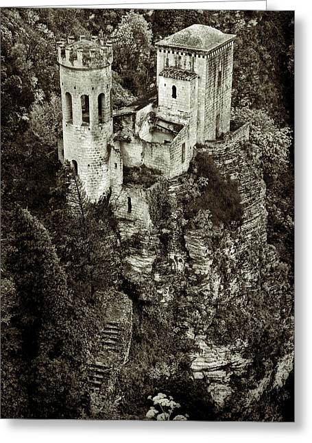 Erice Greeting Cards - Torretta Pepoli Platinum Greeting Card by RicardMN Photography