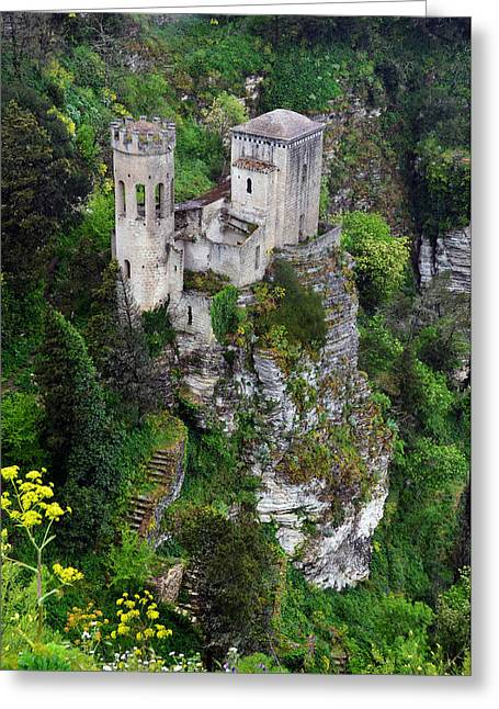 Erice Greeting Cards - Torretta Pepoli Greeting Card by RicardMN Photography