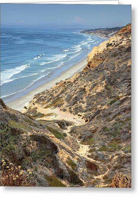 California Ocean Photography Greeting Cards - Torrey Pines Beach  Greeting Card by Jackie Novak