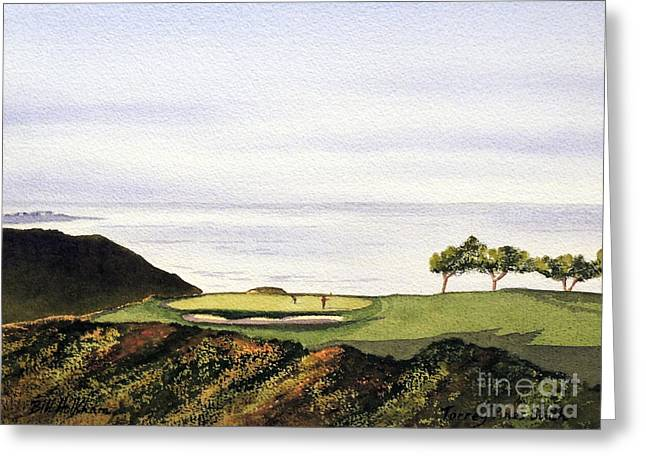 Watercolor Tiger Greeting Cards - Torrey Pines South Golf Course Greeting Card by Bill Holkham