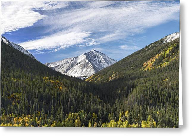 Crisp Greeting Cards - Torreys Peak 3 Greeting Card by Aaron Spong