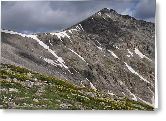 Torreys Peak Greeting Card by Aaron Spong