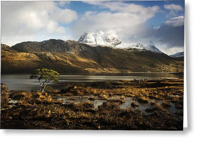 Slioch Greeting Cards - Torridon Hills Greeting Card by Bob Falconer